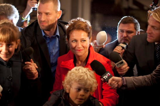 Woman On her way to the political Top. Sidse Babett Knudsen in Borgen. © Mike Kollöffel, DR.